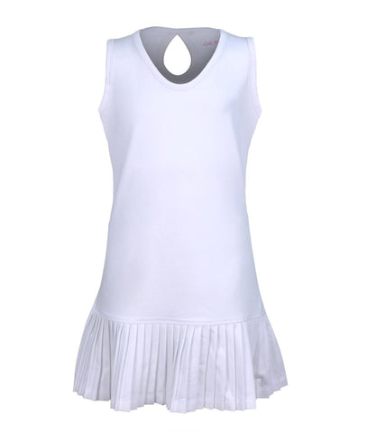 #Santorini Island White Dress - Little Miss Tennis