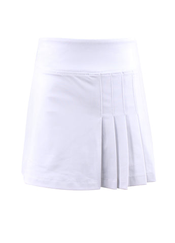 Chamonix Blossom White Semi Pleat Skirt - New! - Little Miss Tennis
