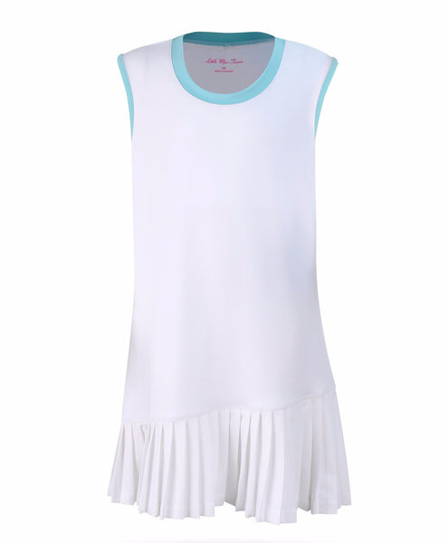 Dress Believe White - 3/4, LG - Little Miss Tennis