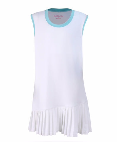 Believe Dress White - 3/4, LG - Little Miss Tennis