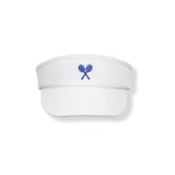 White Visor (Navy) - Little Miss Tennis