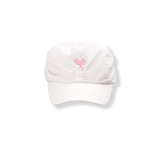 White Hat (Pink) - Little Miss Tennis