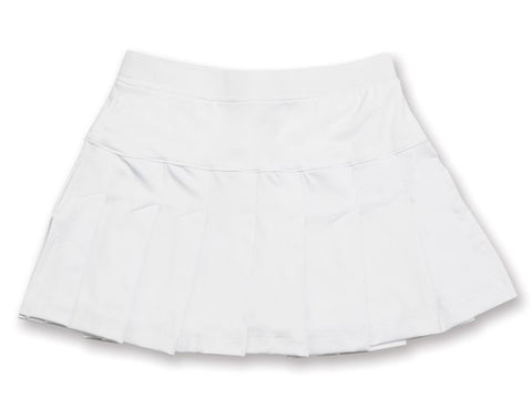 Club Classic White Skirt - 4/5, 5/6 - Little Miss Tennis