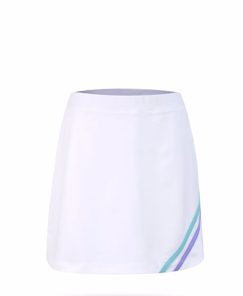 Believe Skirt White Chevron - Little Miss Tennis