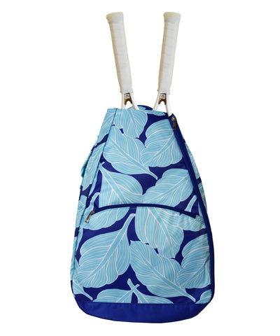 Tennis Backpack: Blue Palms - New! - Little Miss Tennis