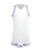 #Pretty In Provence White Dress - Little Miss Tennis
