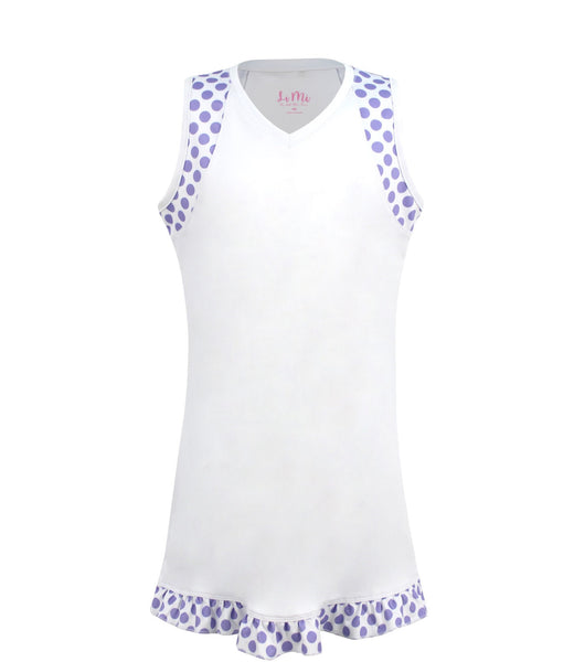 #Pretty In Provence White Dress - New! - Little Miss Tennis