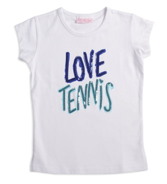 "Midnight ""Love Tennis"" Tee - Little Miss Tennis"