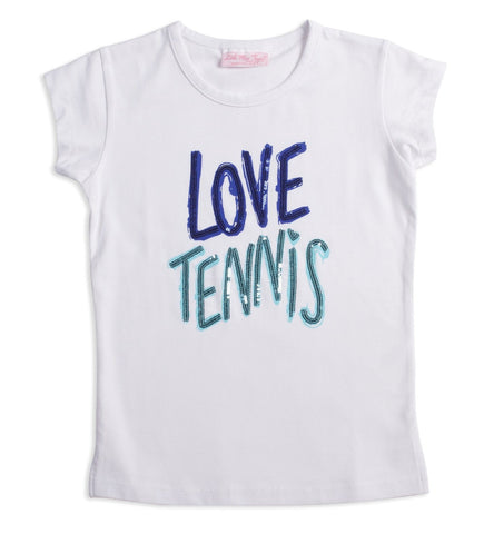 "Midnight ""Love Tennis"" Tee - XS only - Little Miss Tennis"