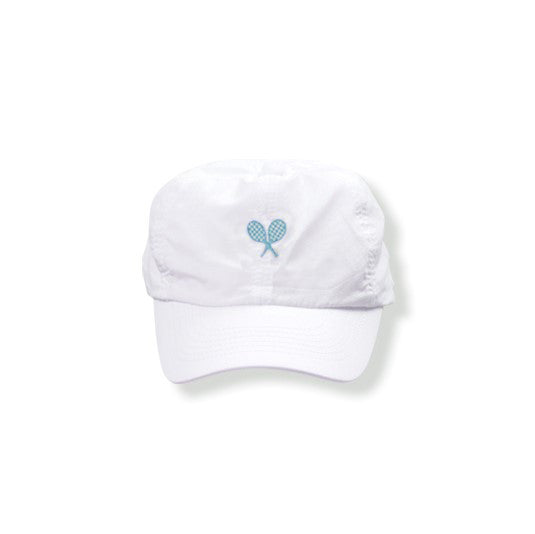 White Hat (Turquoise) - Little Miss Tennis