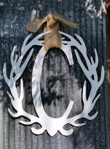 Antler Wreath - Letter C