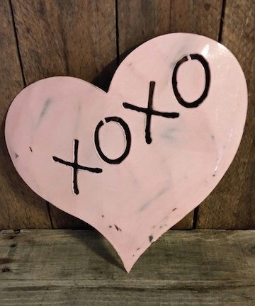 Stenciled Heart - XOXO