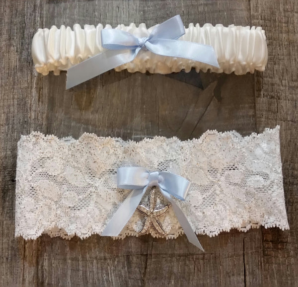 Garter Set - Lace Starfish