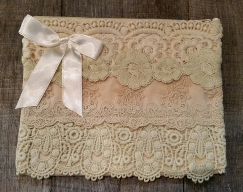 Cosmetic Bag - Natural Vintage Lace