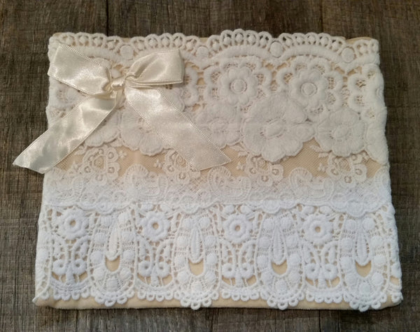 Cosmetic Bag - Vintage White Lace
