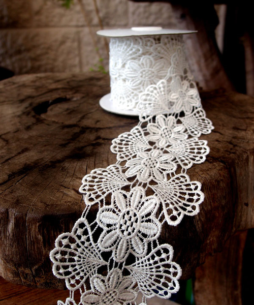Lace - White & Floral Embroidery