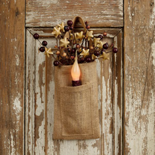 Burlap Pocket Bag
