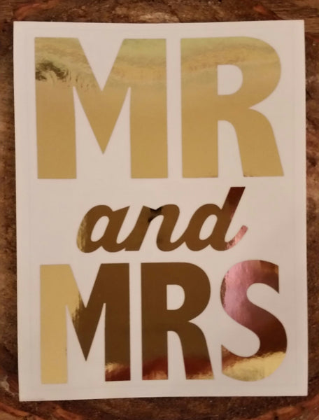 Foil Decal - Mr. & Mrs.