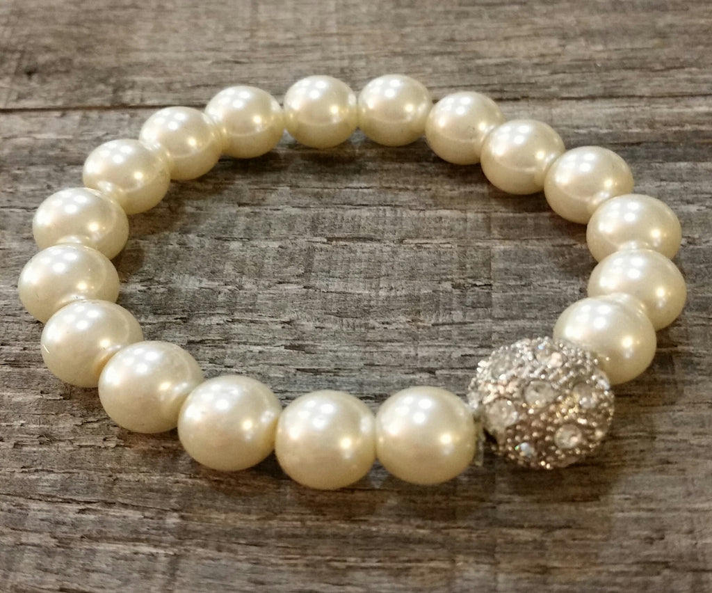 Bracelet - Pearl W/ Accent (White)