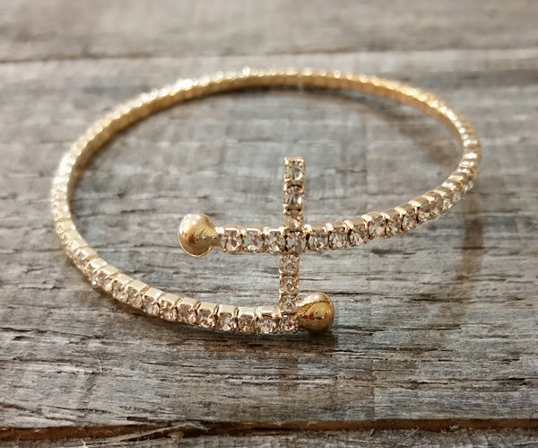 Bracelet - Gold Cross