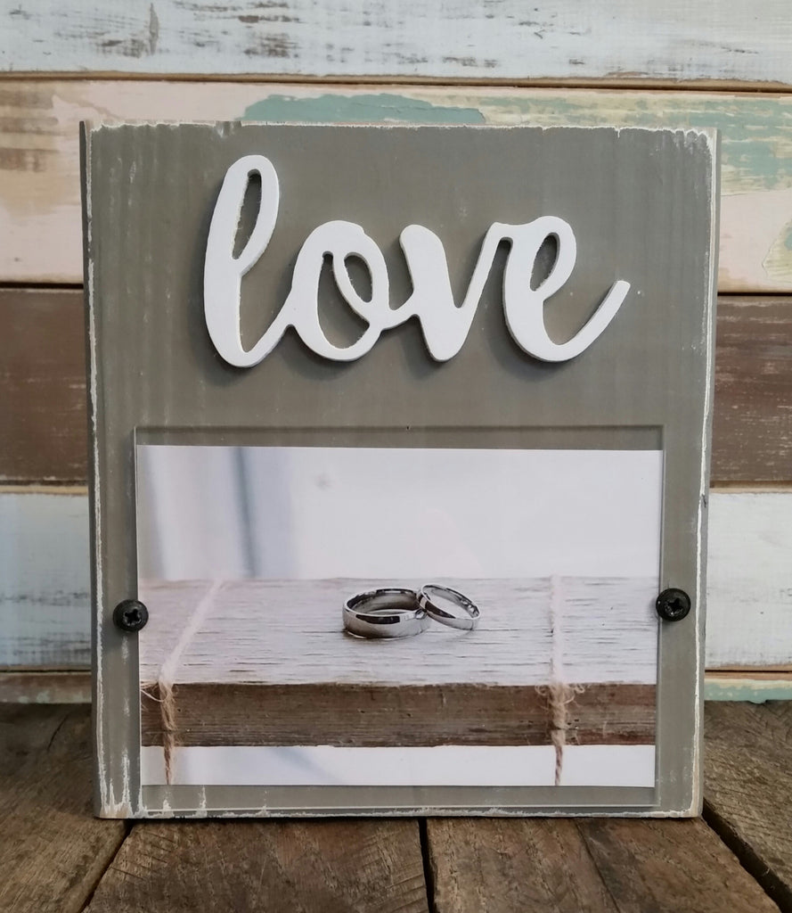 Block Picture Frame - Love