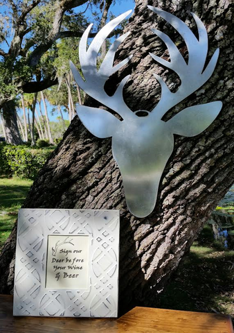 Galvanized Metal Sign - Deer