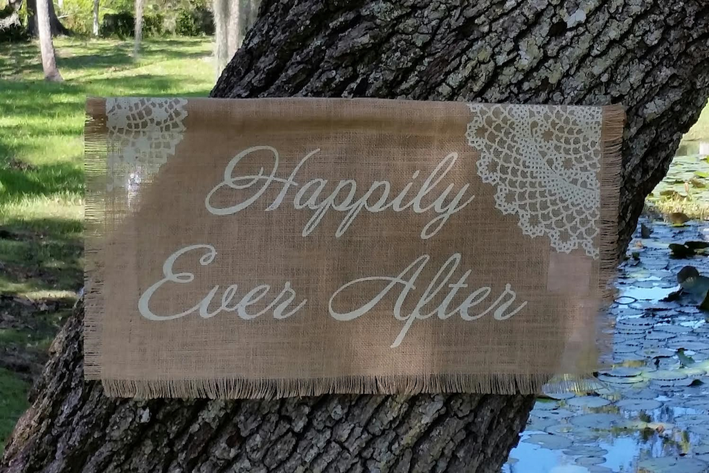 Burlap Banner - Happily Ever After