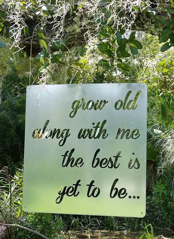 Galvanized Sign - Grow Old With Me
