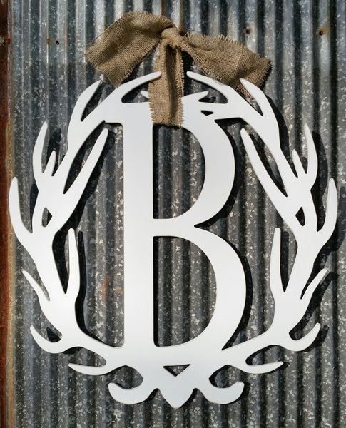 Antler Wreath - Letter B