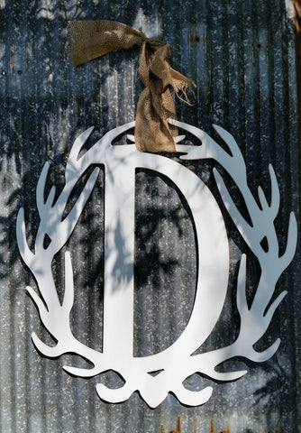 Antler Wreath - Letter D