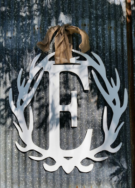 Antler Wreath - Letter E