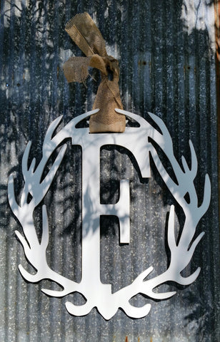 Antler Wreath - Letter F