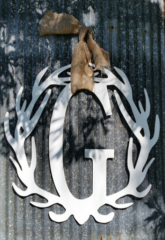 Antler Wreath - Letter G