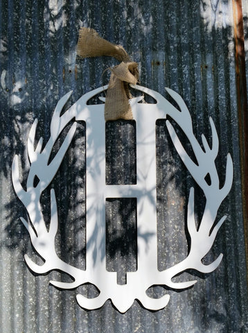 Antler Wreath - Letter H