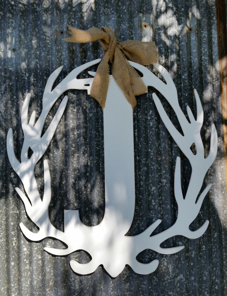 Antler Wreath - Letter J