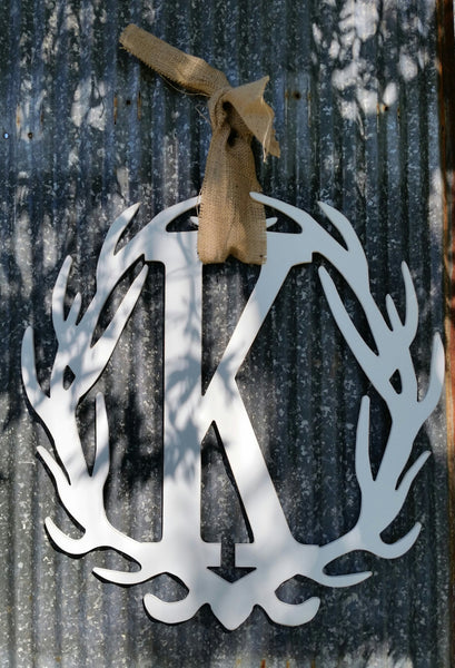 Antler Wreath - Letter K