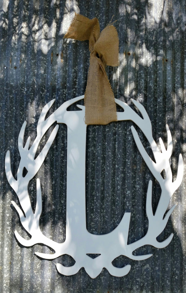 Antler Wreath - Letter L