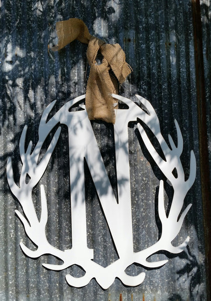 Antler Wreath - Letter N