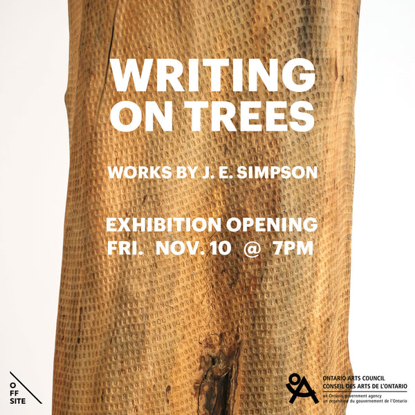 WRITING ON TREES - Works by J.E. Simpson