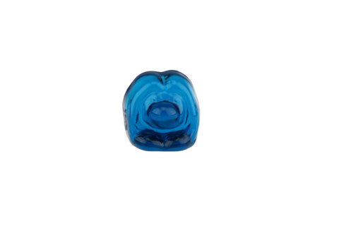 Bergdala Art Glass Troll Figurine Paperweight Blue Crysta