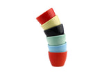 Longchamp French Multi Colored Sake Liquor Thimble Cups