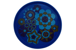 Britan Ware Blue Enamel Metal Serving Tray