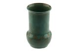 W.C. Brouwer Dutch Pottery Green Vase