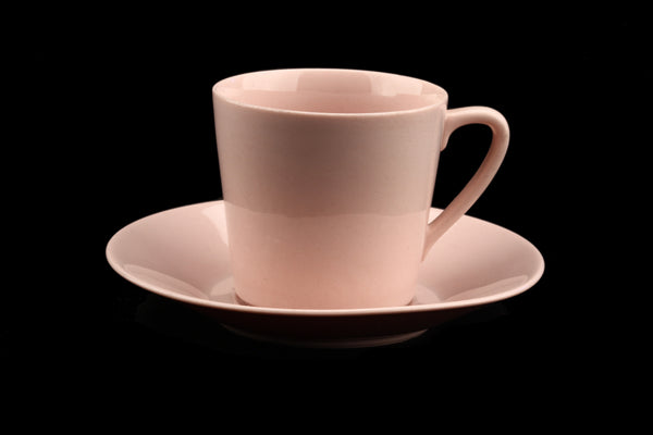 Arabia of Finland Pink Pastel Coffee Cup and Saucer