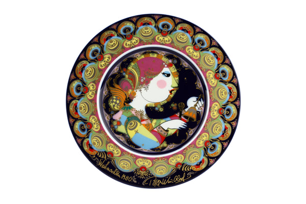 Bjorn Wiinblad Studio Line Rosenthal Decorative Plate 1980 Angel With Bells