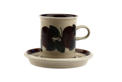 Arabia of Finland Ruija Demitasse Coffee Cup and Saucer