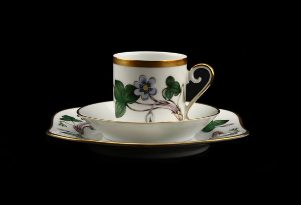 Hackefors Porslin Anemone Hepatica Cup and Saucer / Plate