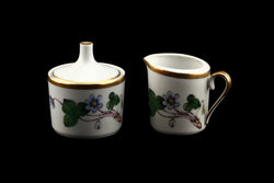 Hackefors Porslin Anemone Hepatica Sugar and Creamer Set