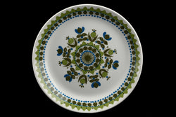 Figgjo Flint Turi Blue Olive Flowers Dots Design Norway Plate