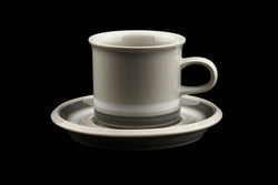 Arabia of Finland Salla Mokka Coffee Cup and Saucer Design Ulla Procopé